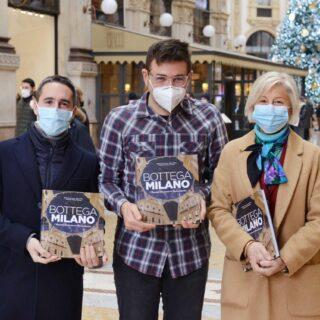 Milano 7 dicembre 2020. Presentazione del libro BOTTEGA MILANO all'interno della Libreria Bocca in Galleria